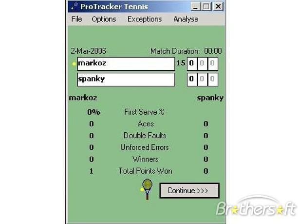 ProTracker Tennis picture or screenshot