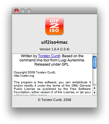 UIF2ISO for Mac picture