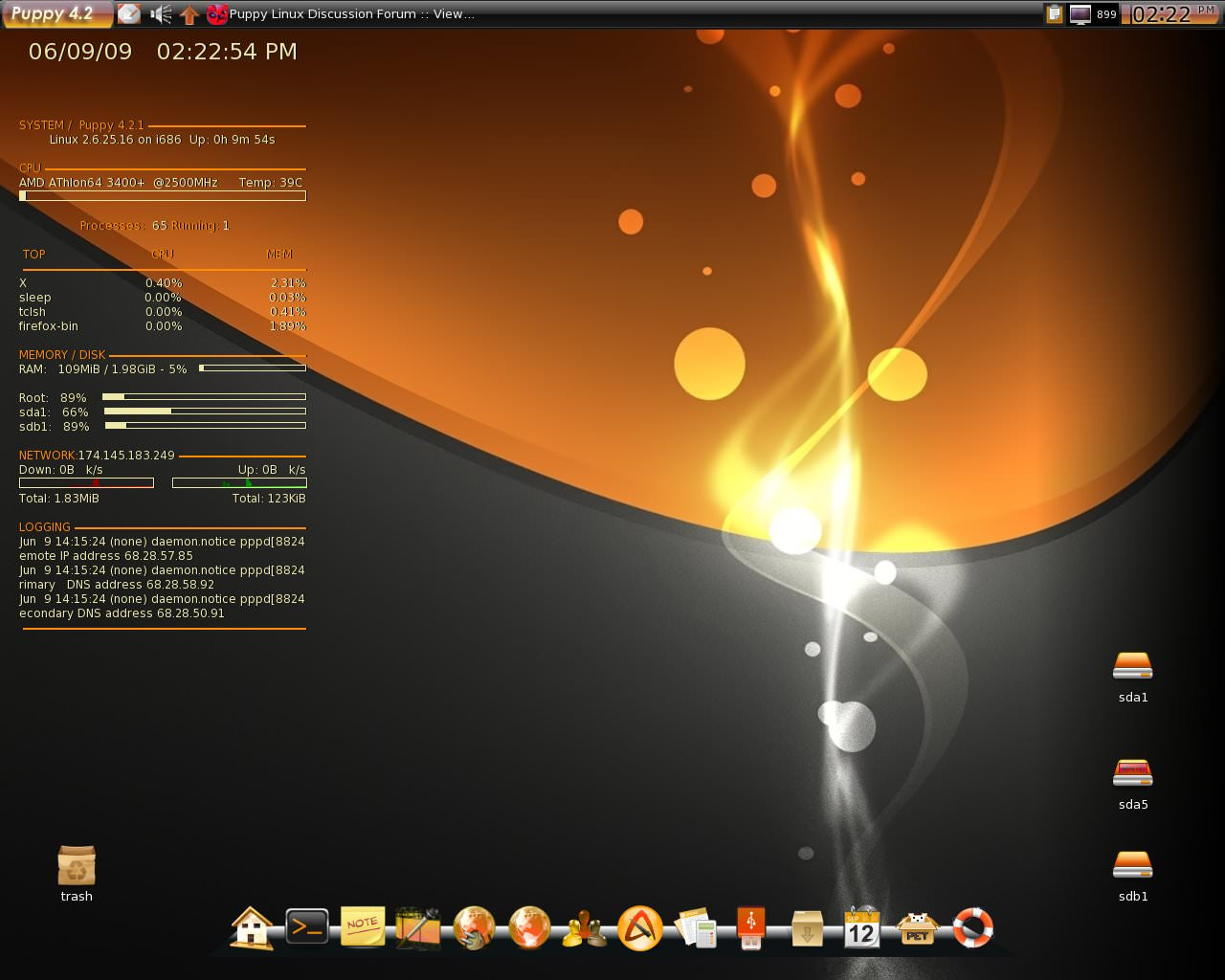 Puppy Linux file extensions