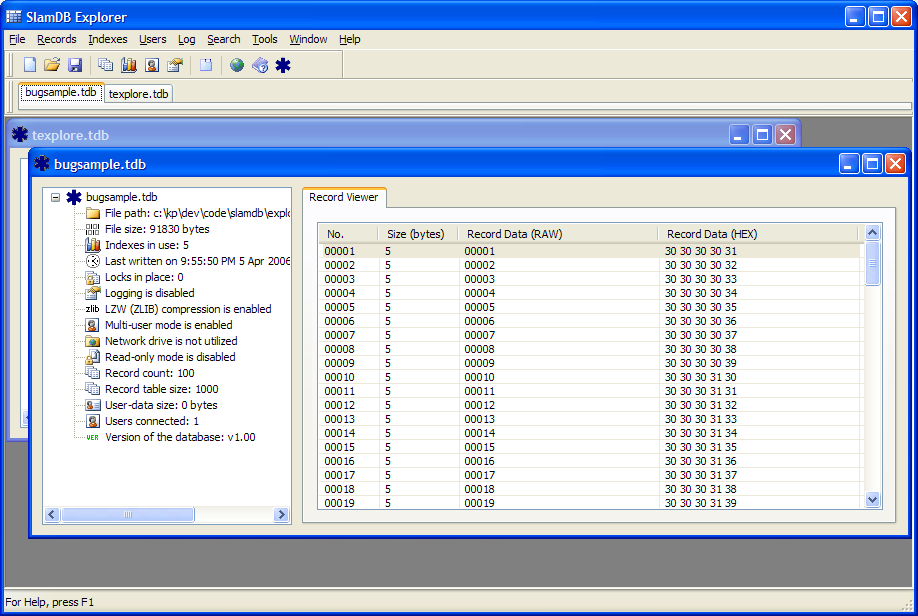 Slam Database Manager picture or screenshot