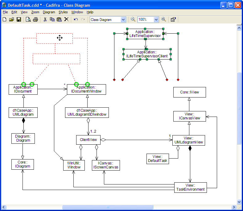 Cadifra UML Editor picture or screenshot