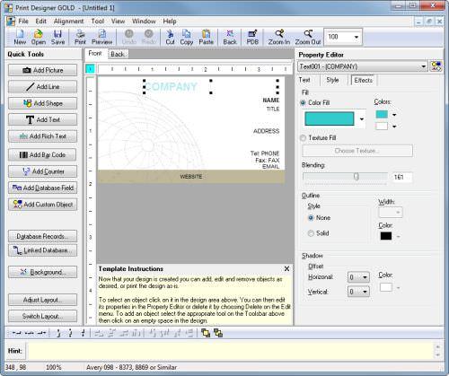 Print Designer GOLD picture or screenshot