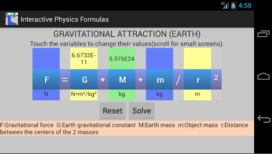 Interactive Physics picture