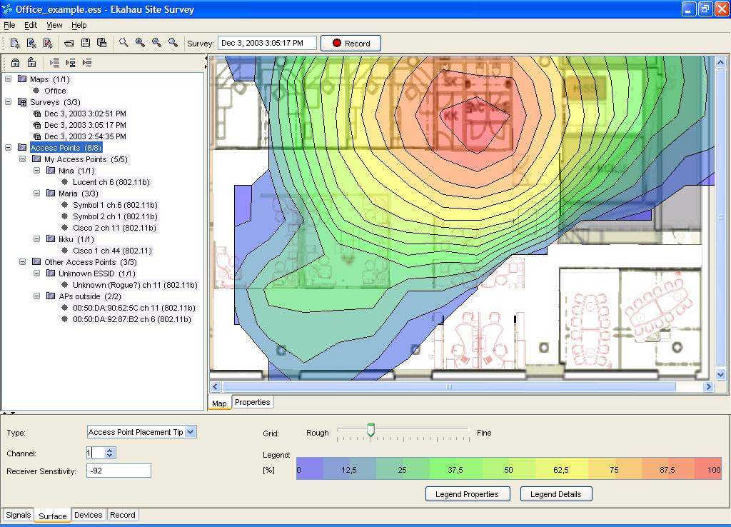 Ekahau Site Survey picture or screenshot