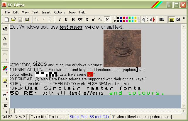 ZX-Editor picture or screenshot