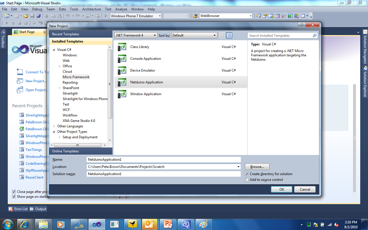 Microsoft .NET Micro Framework SDK picture or screenshot