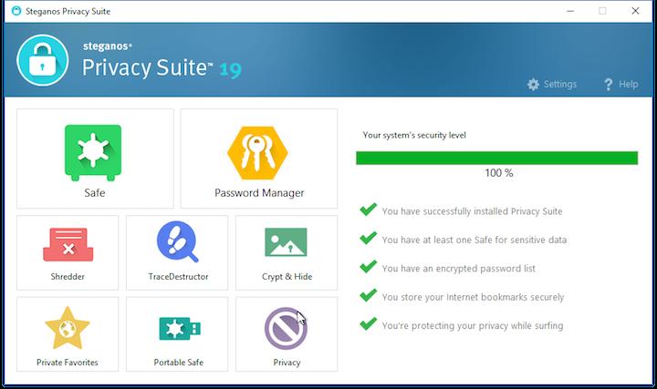 Steganos Privacy Suite picture or screenshot