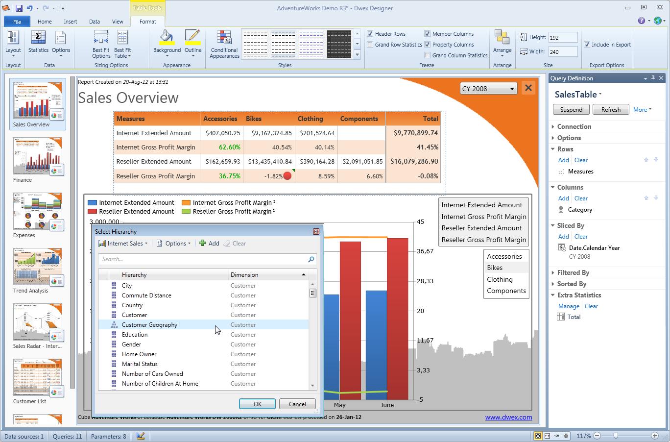 DataWarehouse Explorer picture or screenshot