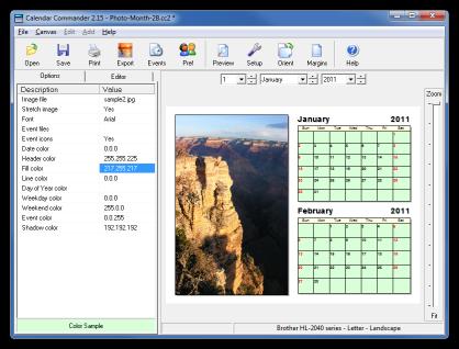 Calendar Commander picture or screenshot