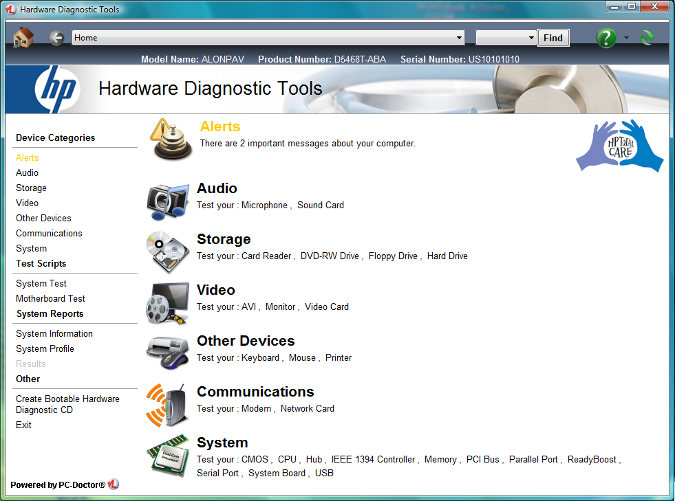 PC-Doctor for Windows picture or screenshot