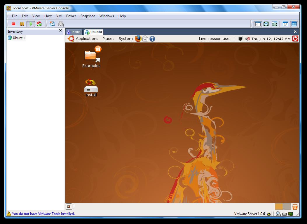 VMware Server picture or screenshot