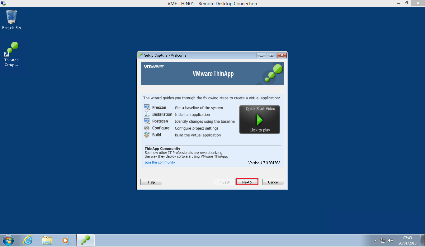 VMware ThinApp picture or screenshot