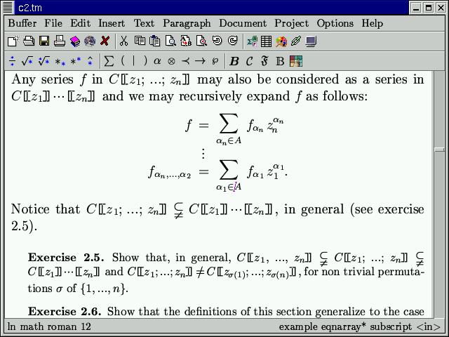 GNU TeXmacs picture or screenshot