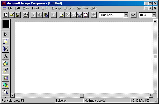 Microsoft Image Composer picture or screenshot