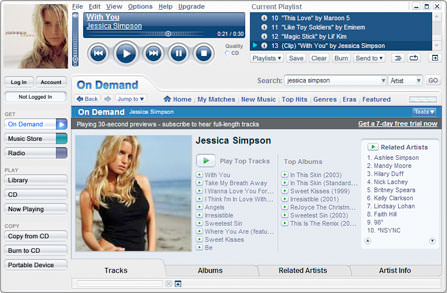 Musicmatch Jukebox picture or screenshot