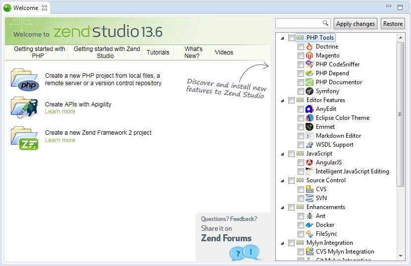 Zend Studio for Mac picture