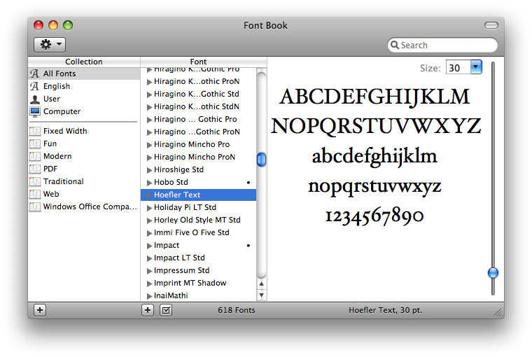 Font Book picture