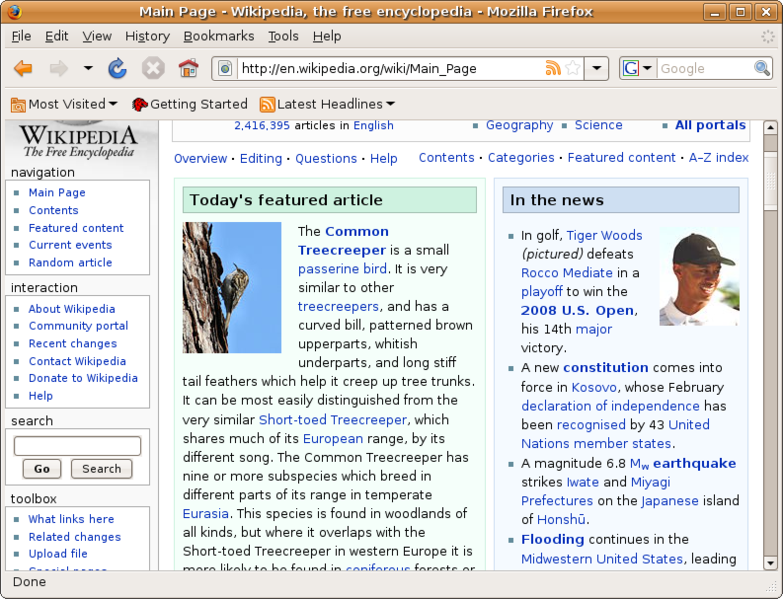 Firefox for Linux picture