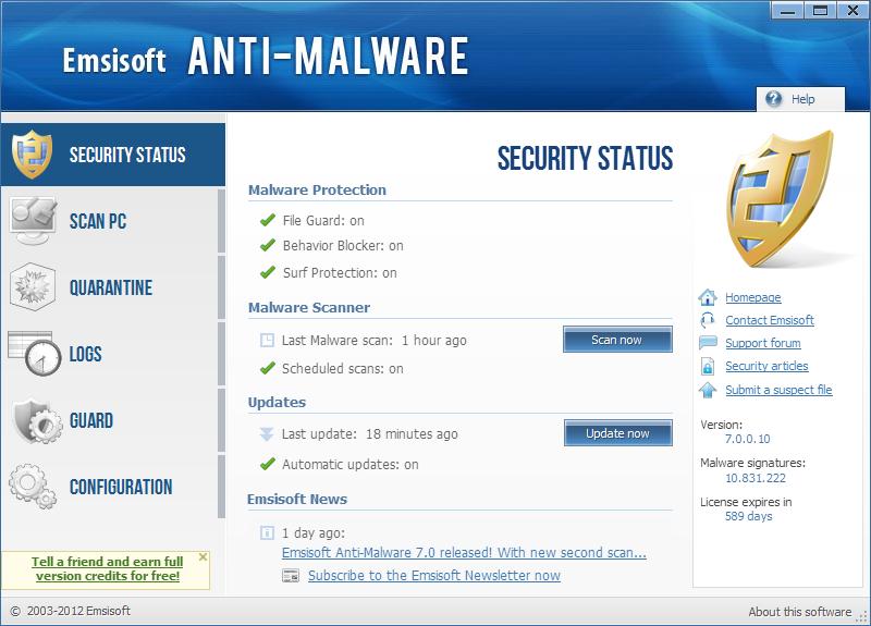Anti-Malware picture or screenshot