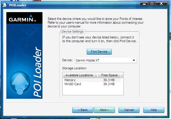 Garmin POI Loader full screenshot