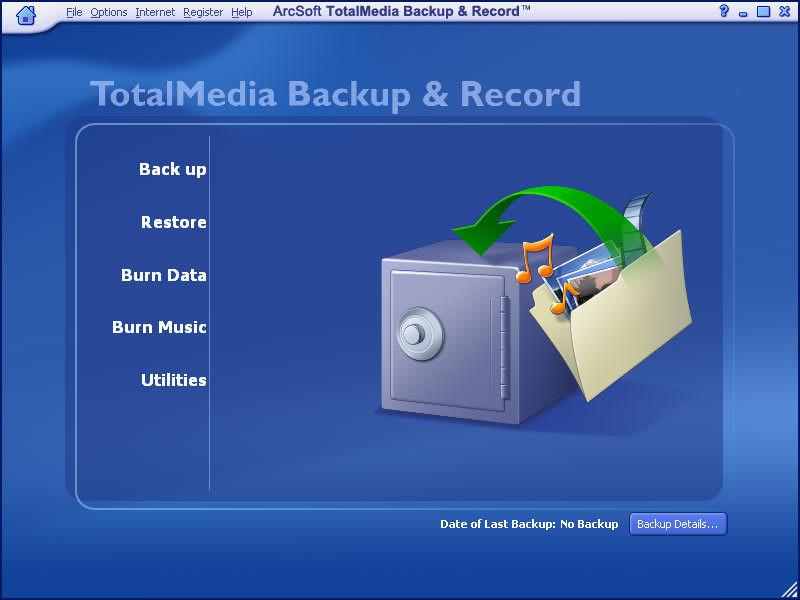 ArcSoft TotalMedia Backup & Record picture or screenshot