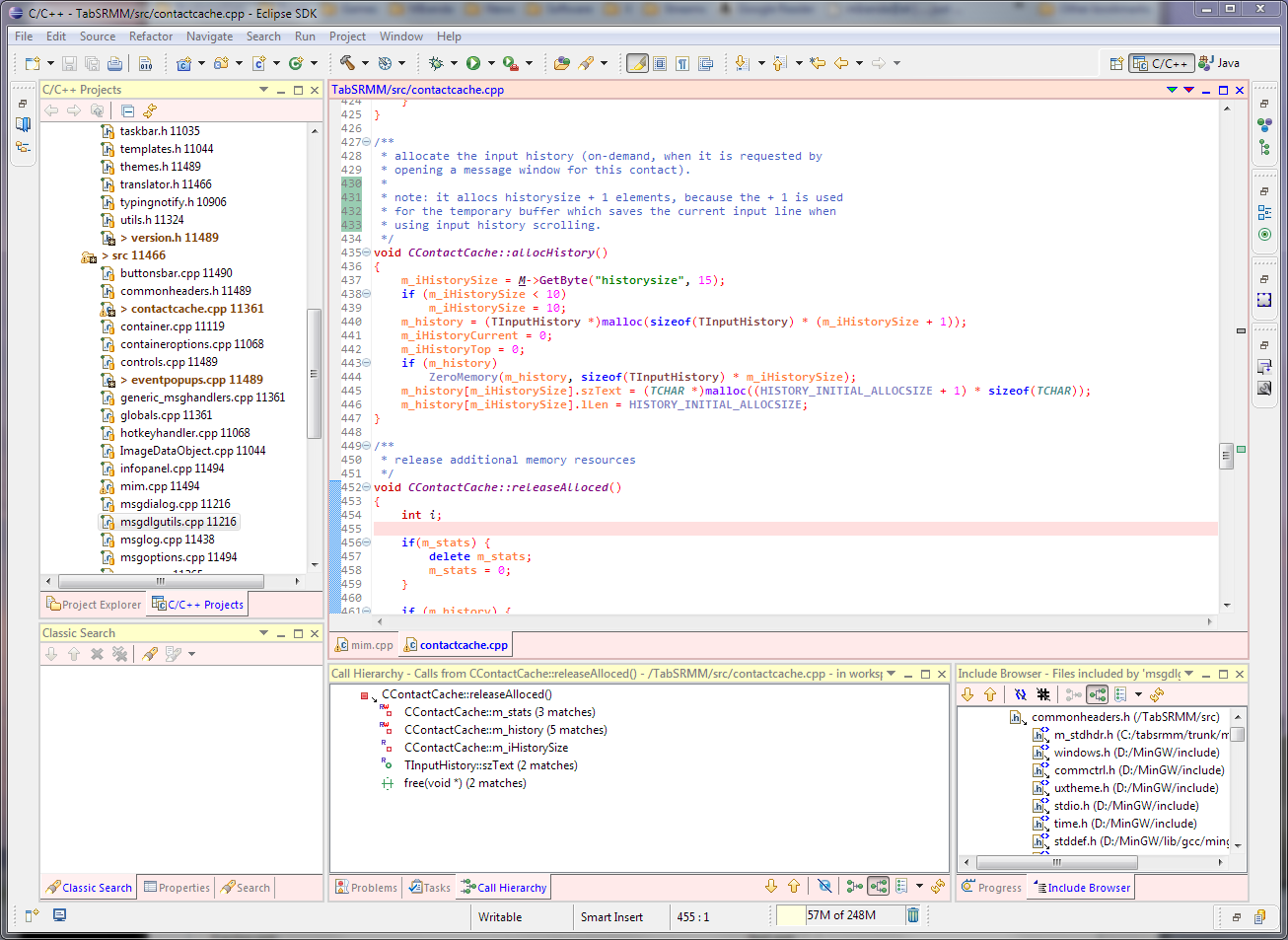 Eclipse IDE for C/C++ Developers picture