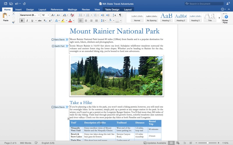 Microsoft Word for Mac picture