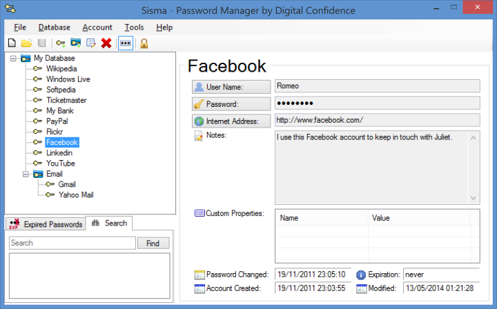 Sisma Password Manager picture or screenshot