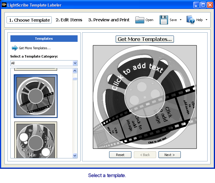 LightScribe Template Labeler picture or screenshot