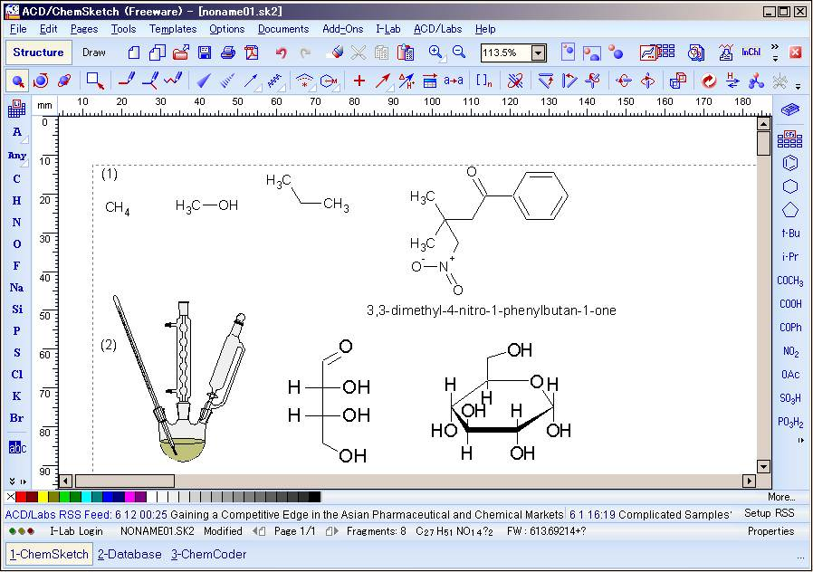 ACD/ChemSketch picture or screenshot