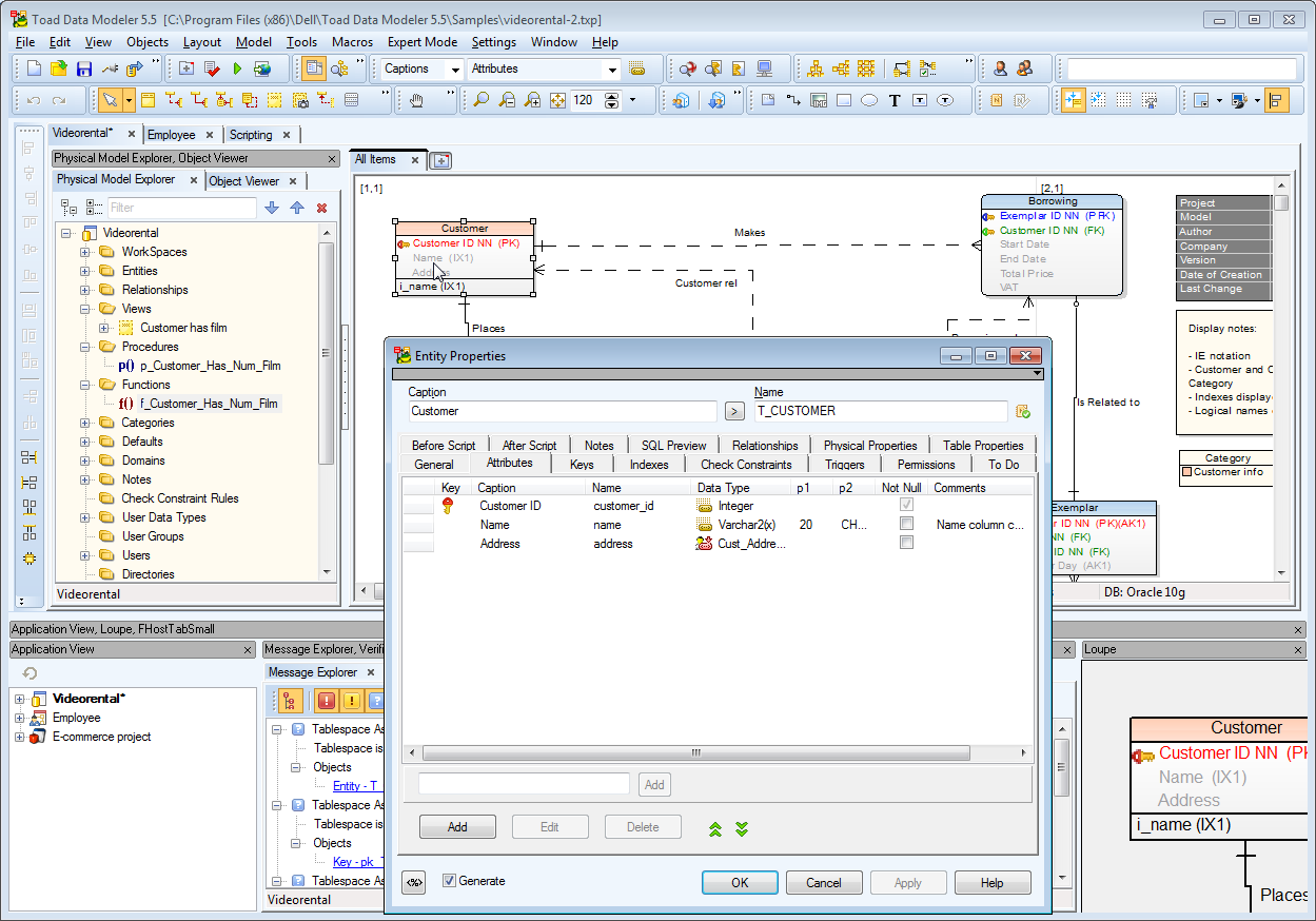 Toad Data Modeler picture or screenshot