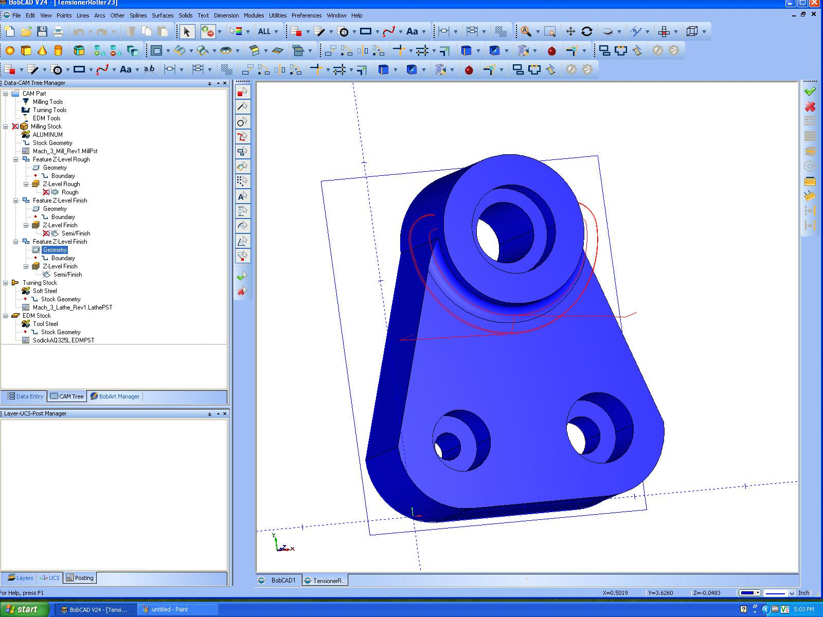 BobCAD-CAM Mill picture or screenshot