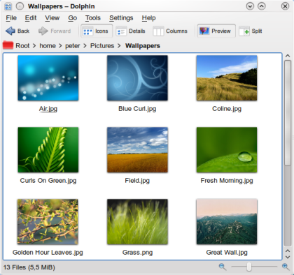 Dolphin for KDE picture or screenshot