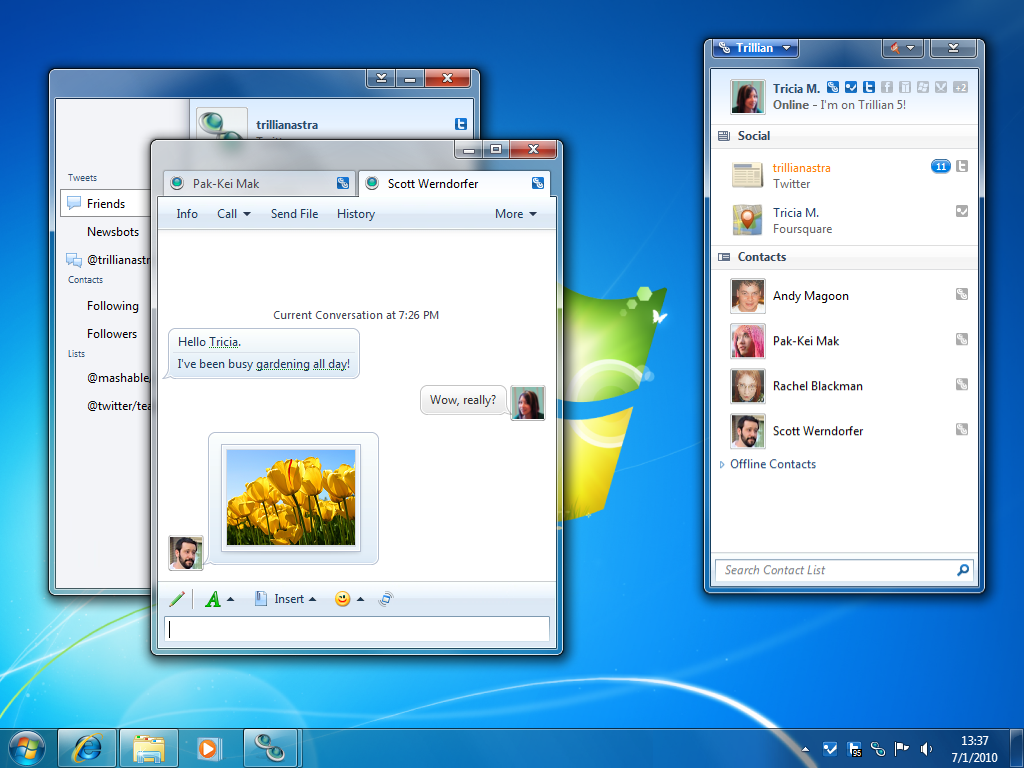 Trillian Astra freeware screenshot