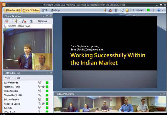 Microsoft Office Live Meeting picture or screenshot