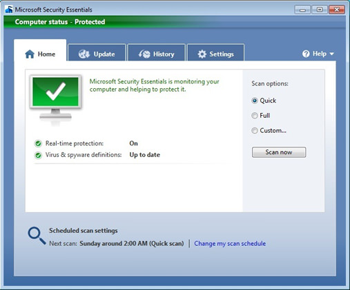 Microsoft Security Essentials picture