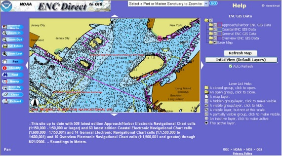 NOAA Electronic Navigational Charts to GIS picture or screenshot