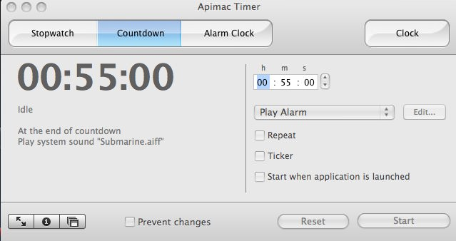 Apimac Timer picture or screenshot