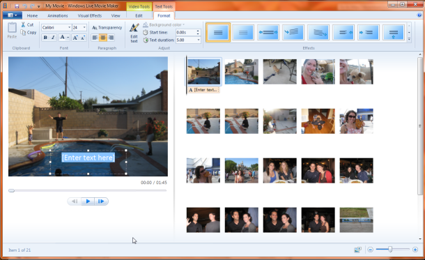 Microsoft Windows Live Movie Maker file extensions