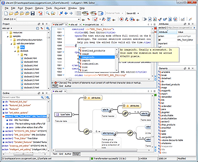 oXygen XML Editor picture