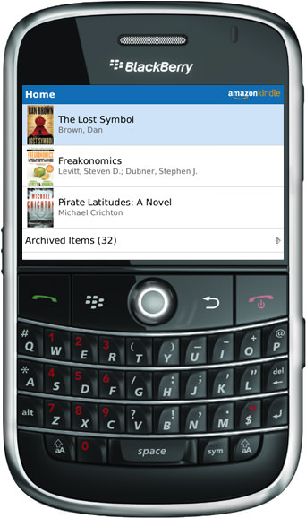 Amazon Kindle for BlackBerry picture