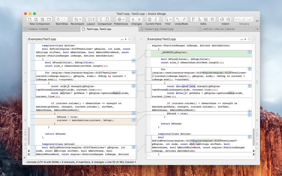 Merge for Mac OS X picture or screenshot