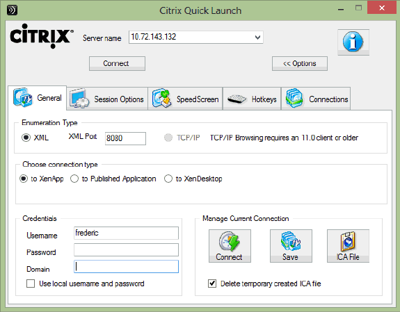Citrix Quick Launch (Citrix ICA File Creator) picture