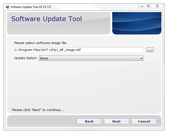 Software Update Tool LR picture or screenshot