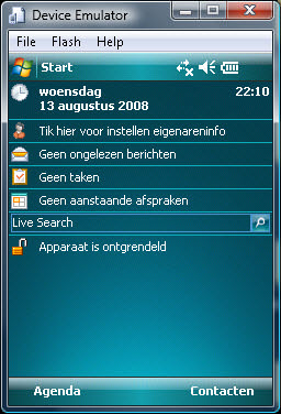 Microsoft Device Emulator picture or screenshot