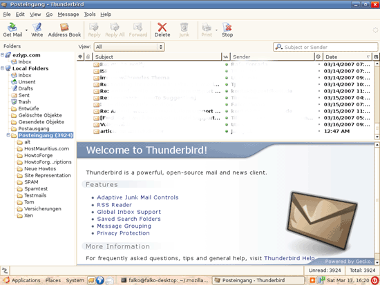 Mozilla Thunderbird for Linux picture
