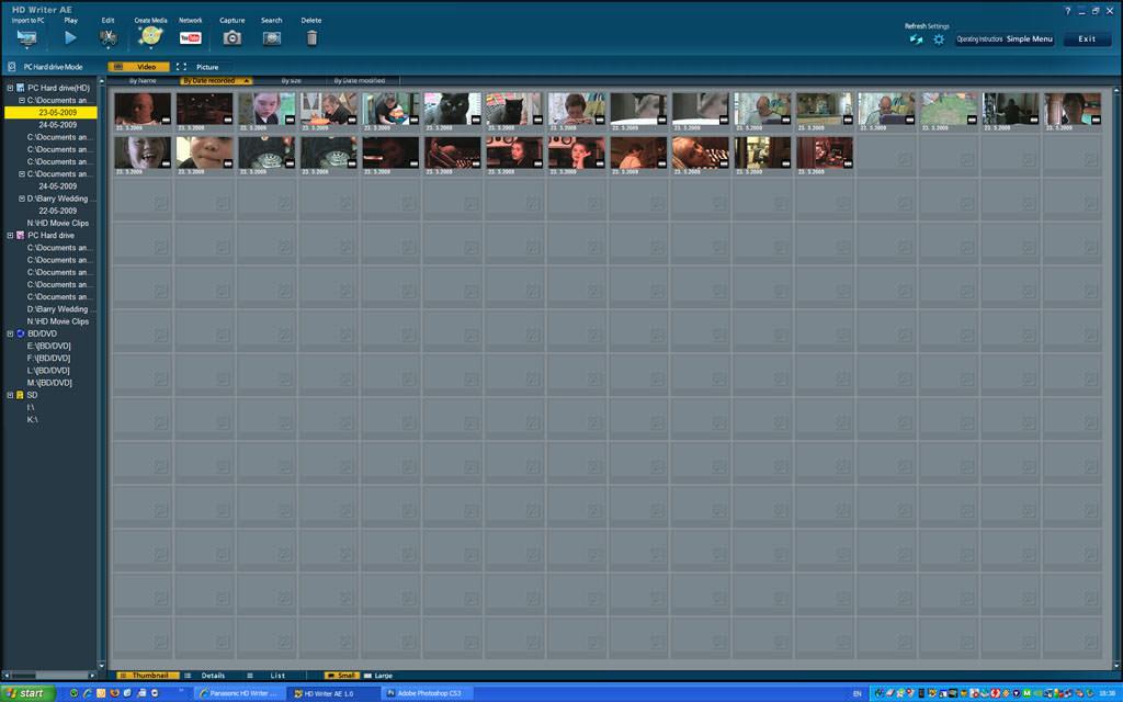 Panasonic HD Writer picture or screenshot