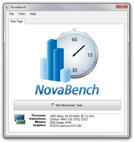 NovaBench picture or screenshot