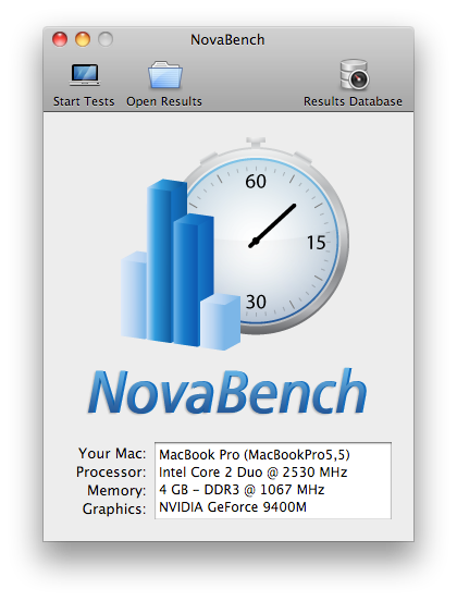 NovaBench for Mac picture