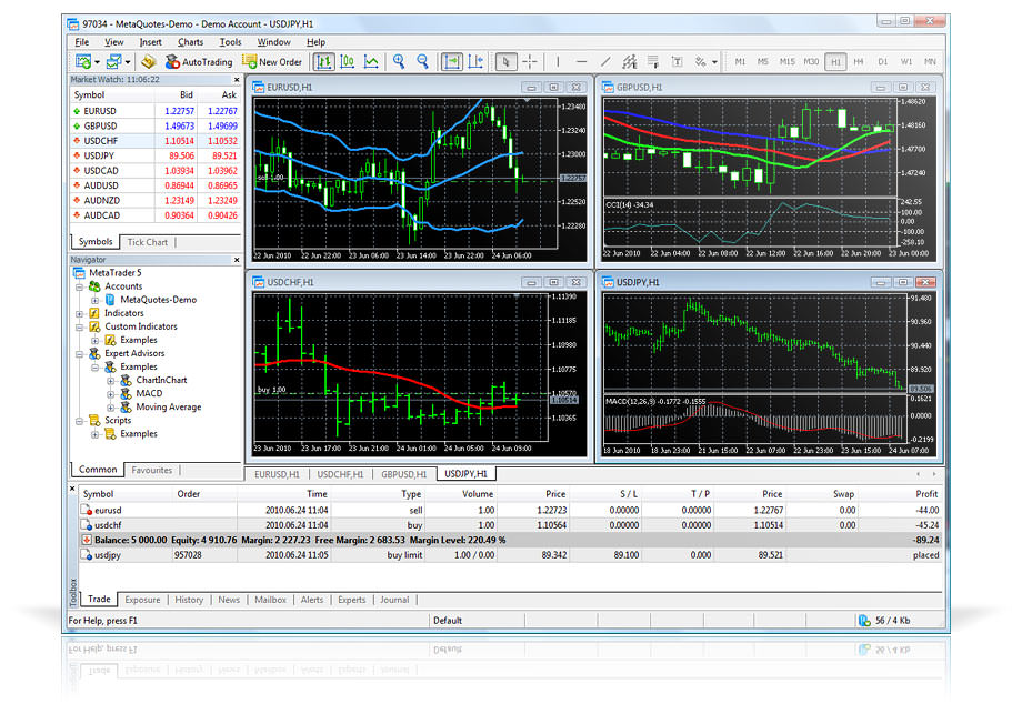 MetaTrader Trading Terminal picture or screenshot